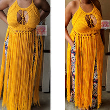 The Butterfly top, Fringe crochet Bralette in Mustard, best friend gift, crop top Crochet bralette Haltertop, sexy top boho,crochet crochet dress bohemian clothing