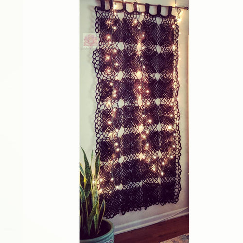 Bohemian curtain, apartment therapy, crochet curtain