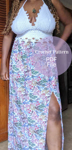 Crochet Crop top pattern, The Natalie Top Pattern, PDF file