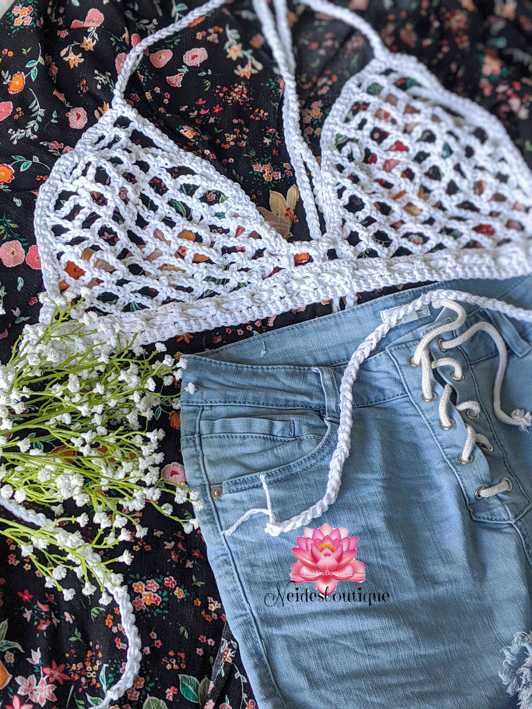 Peekaboo Bralette, crochet crop top