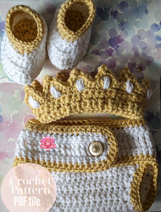 Crochet Baby Outfit Pattern,  PDF file
