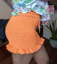 Highwaisted ruffle Skirt in Orange