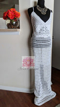 Long beach wedding dress, white beach dress