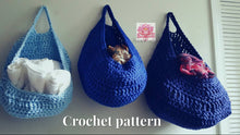 Laundry basket Pattern for Large Gray laundry bag, PDF file Crochet pattern, Dorm room storage, Kitchen storage, Yarn basket, clothing basket, hanging storage, toys storage, home decor