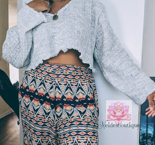 Crop top Sweater, long sleeve crop top