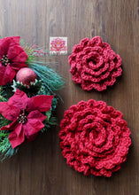 Crochet Floral wreath pattern, crochet flower pattern, pdf file, christmas gift