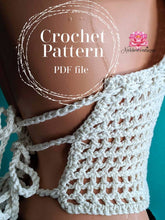 Crochet bralette pattern, Crochet Crop top pattern, The Butterfly Top Pattern, PDF file