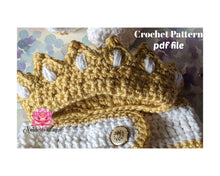 Crochet Baby Crown Pattern,  PDF file