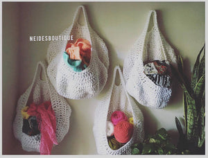 Crochet Storage, Housewarming gift, Nursery storage, toys storage, Vegetable Bag, Kitchen storage, hanging storage, toys storage,home decor