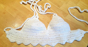 Crochet bralette, white top, Blue Top, boho top, lots of colors available, Sexy bikini, crochet halter top, crochet crop top, bohemian style