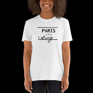 Paris is calling, Paris tshirt, Graphic tshirt, traveling tshirt, travelling apparel, wanderlust, fashion on the go, roadtrip apparel, boho