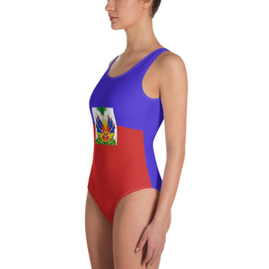 Haitian flag Swimsuit, Haitian goddess Swimsuit, One-Piece Swimsuit
