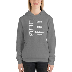 Building my empire sweatshirt, gift for her, gift for him, Unisex hoodie