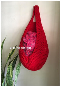 Large Red laundry bag, Dorm room storage, Kitchen storage, Yarn basket, clothing basket, hanging storage, toys storage, home decor