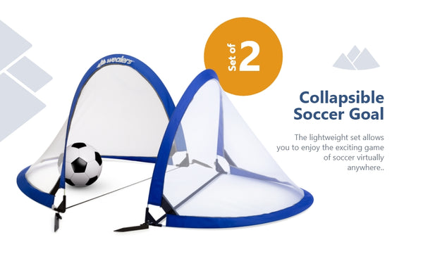 ULTRA PORTABLE SOCCER TOURNAMENT NETS!