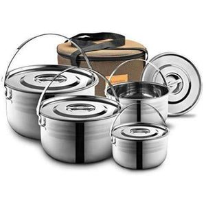 5 Pc stainless steel Cookware Kit - wealers