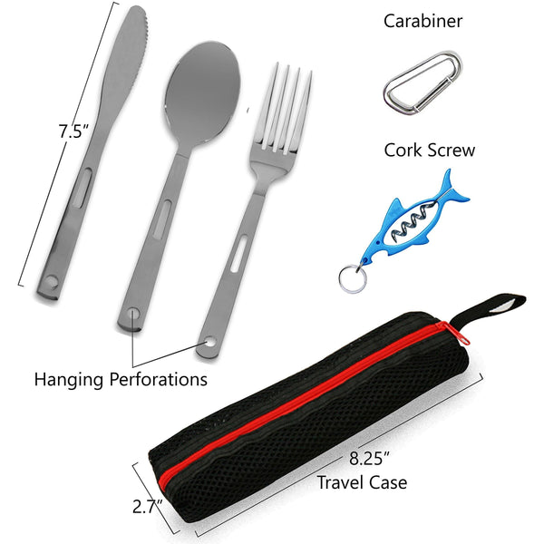 5 PIECE CUTLERY TRAVEL SET - wealers