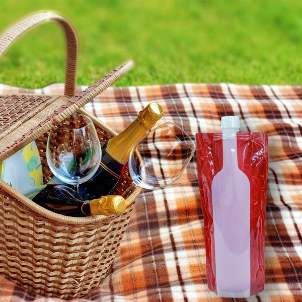 3 Foldable Wine Bags - wealers