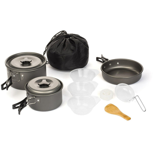 10 PC OUTDOOR COOKWARE KIT - wealers