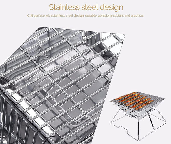 Stainless Steel Charcoal Grill - wealers