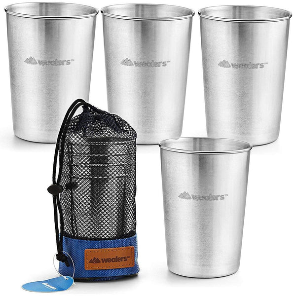 4 Stainless Steel Cups - wealers