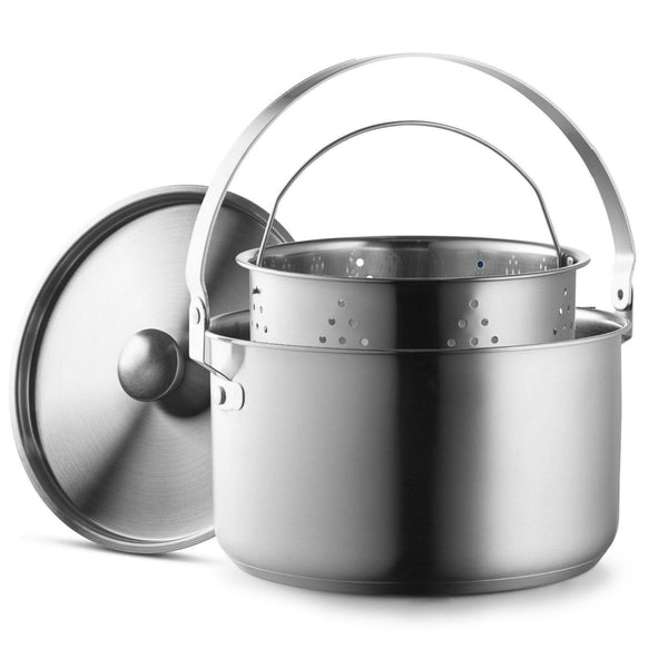 NEW! Camping Cookware Set 304 Stainless Steel 8-Piece Pots & Pans - wealers