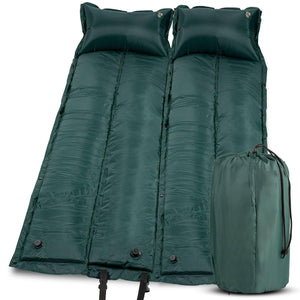 Double Kids Sized Self Inflatable Camping Mattress - wealers