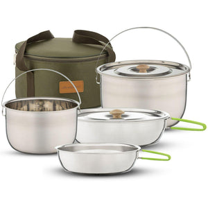 Camping Cookware Set - Compact Combo Kit - wealers