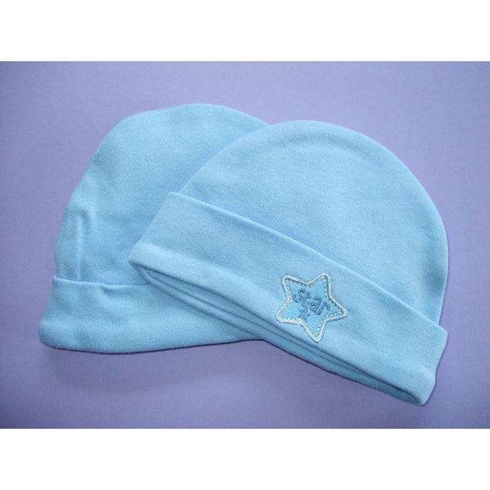 c77e37a18b1 Cotton Baby Two Pack Hat - Blue