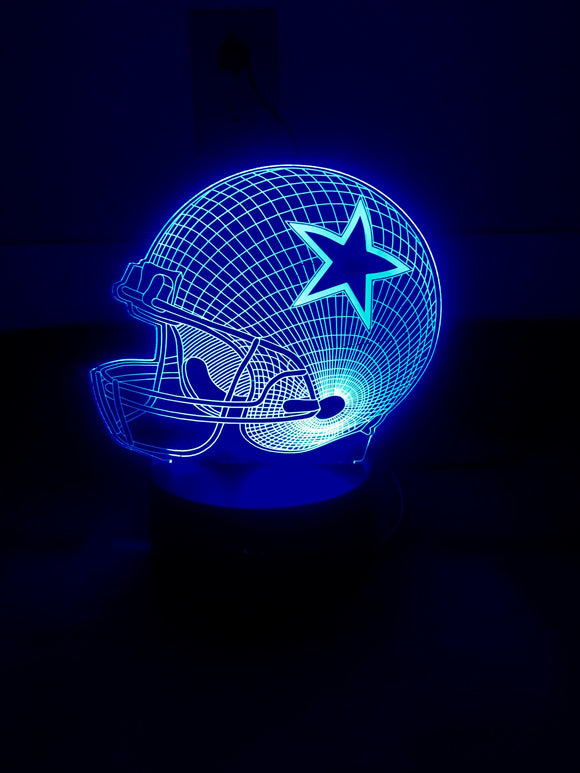 3D Illusion Night Light - Cowboys - Electronics