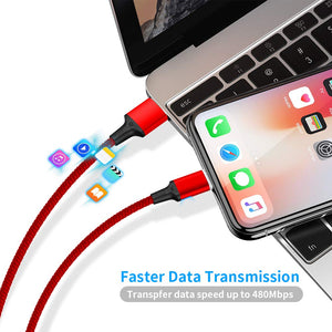 Micro Magnetic USB 3in 1 Cable for iPhone and Samsung