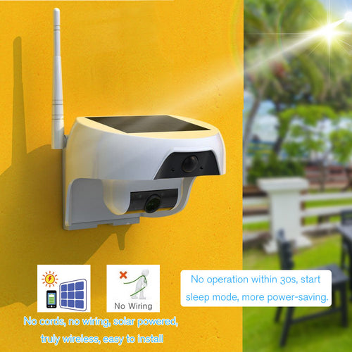 Solar Powered  Security Camera  - Gadget Habits - Wireless Earpods, Bluetooth Speakers, 3D Lamps