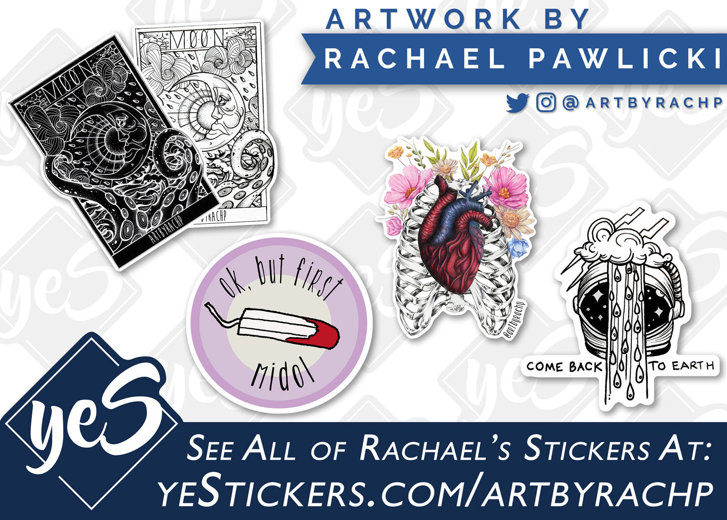 Stickers by Rachael Pawlicki at yeStickers.com