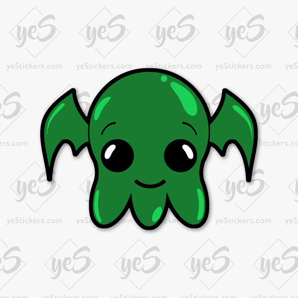 Baby Cthulhu Sticker Featuring Artwork by Artist David Puga