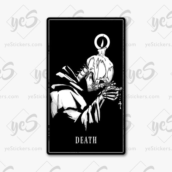 Death Tarot Card Sticker Featuring Artwork by Artist David Puga