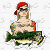Double Ds Color Tattoos Stickers by Artist Tapped Ink