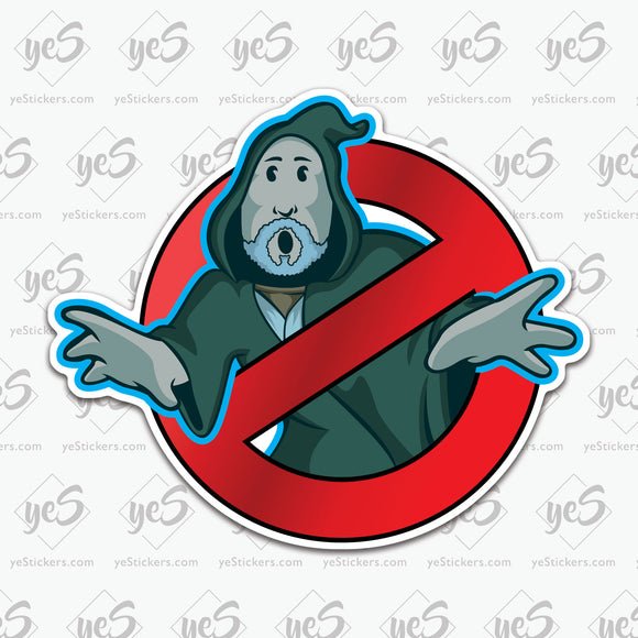 Force Ghost Busters Sticker by Patrick Hughes - Artist and Graphic Designer