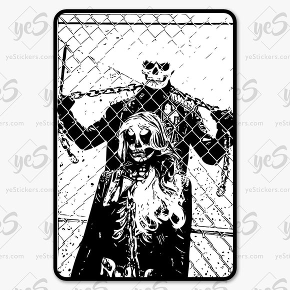 Ghosts Cosplay Sticker. Featuring Art by Artist and Photographer Lars J King