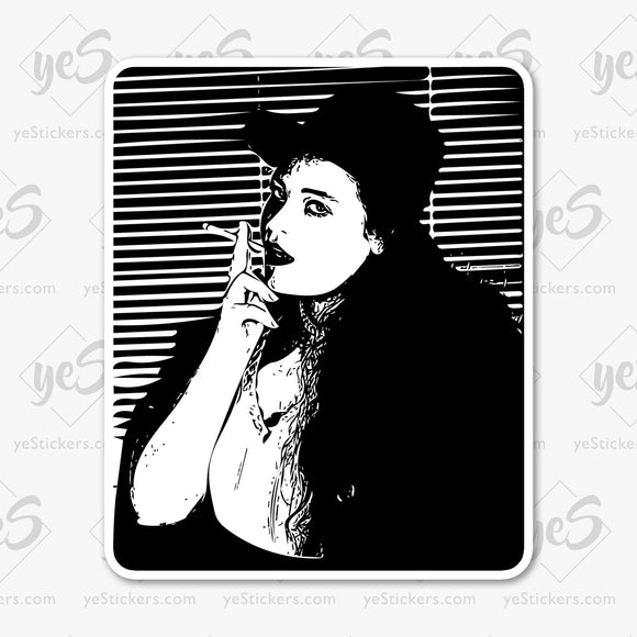 Gun Moll Private Eye Sticker Featuring Art by Artist and Photographer Lars J King