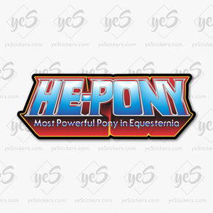 He-Pony Logo Sticker by Patrick Hughes - Artist and Graphic Designer