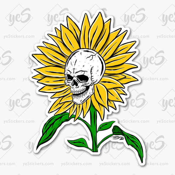 Hello Sunshine Reaper Sticker Featuring Artwork by Tapped Ink Artist