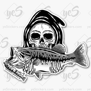 I Love Fatties Fishing Sticker Featuring Artwork by Tapped Ink Artist