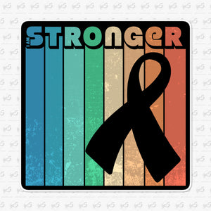 I am Stronger Cancer Awareness Sticker