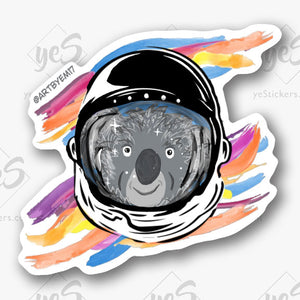 Space Koala Sticker by Emily Soupal - Artist on yeStickers