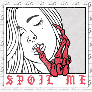 Spoiled (spoil me) sticker by Zach Whitley