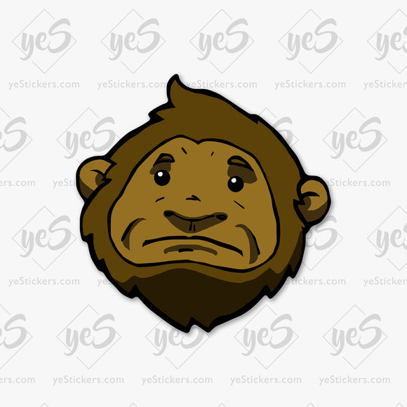 The Squatch Sasquatch Sticker Featuring Artwork by Artist David Puga