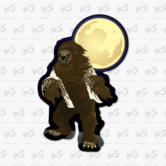 Werewolf of Chicago Sticker by Patrick Hughes - Artist and Graphic Designer