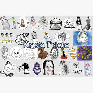 Artist Sticker Pack - Krista Prieto