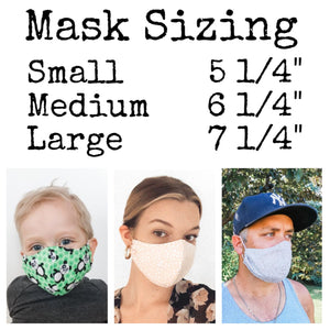 All Mask Sizing Chart
