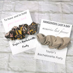 Personalized Bachelorette Scrunchie Card *Add on